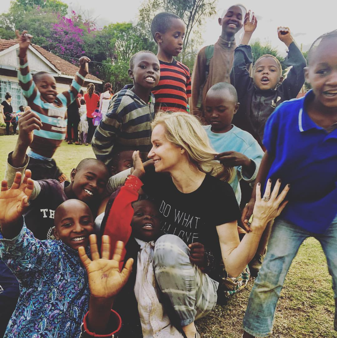 Dana Spinola with the Asher babies in Africa