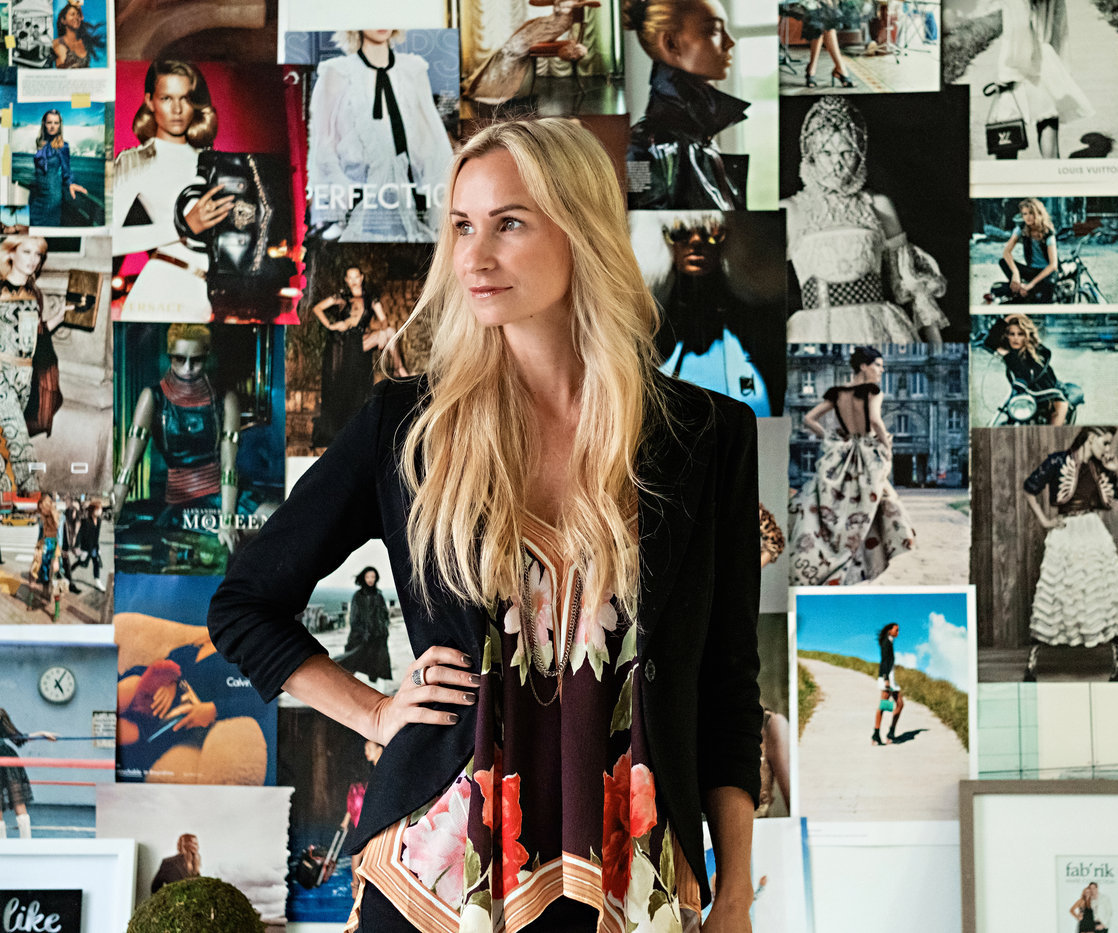 fab'rik founder, Dana Spinola, posing in her office