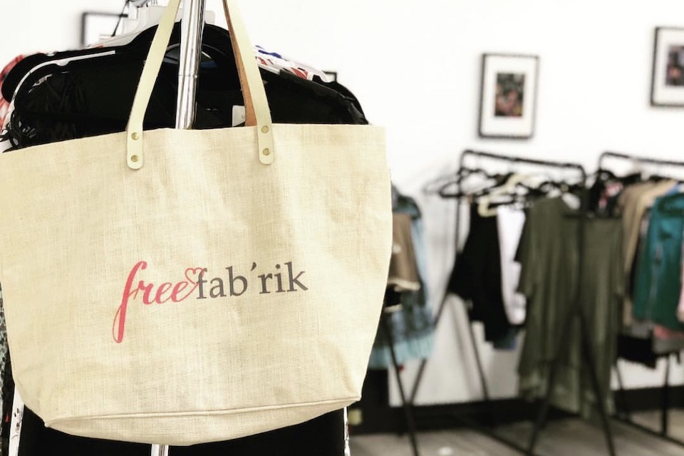 Clothing rack from free fab'rik event